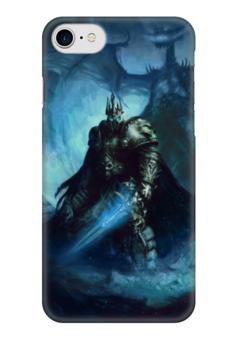 """Чехол для iPhone 7 глянцевый """"Король Лич"""" - война, супергерои, warcraft, world of warcraft, варкрафт"""