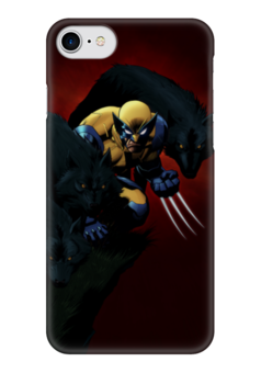 "Чехол для iPhone 7 глянцевый ""Росомаха"" - комиксы, росомаха, марвел, wolverine, логан"
