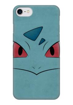 "Чехол для iPhone 7 глянцевый ""Ивизавр"" - нинтендо, бульбазавр, pokemon go, покемон го, ivysaur"