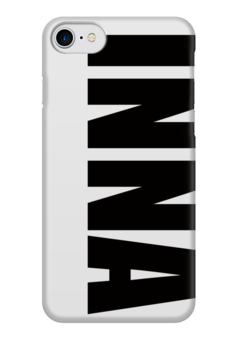 "Чехол для iPhone 7 глянцевый ""с именем Инна"" - инна, чехол с именем, чехол с именем инна"