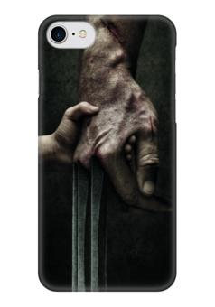 """Чехол для iPhone 7 глянцевый """"Логан"""" - комиксы, росомаха, люди икс, marvel, марвел"""