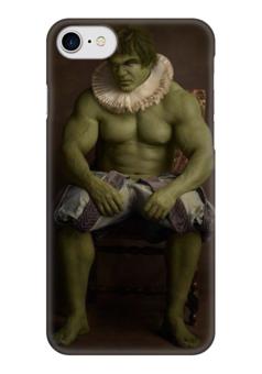 "Чехол для iPhone 7 глянцевый ""Super Flamands"" - hulk, халк, super flamands"