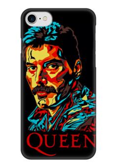 "Чехол для iPhone 7 глянцевый ""Queen group"" - queen, фредди меркьюри, freddie mercury, куин, rock music"