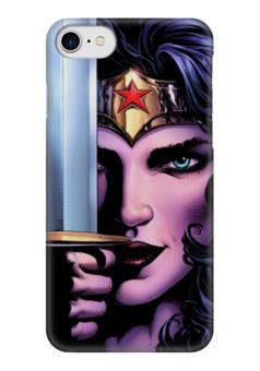 """Чехол для iPhone 7 глянцевый """"Чудо-Женщина (Wonder Woman)"""" - комиксы, dc comics, wonder woman, justice league, лига справедливости"""