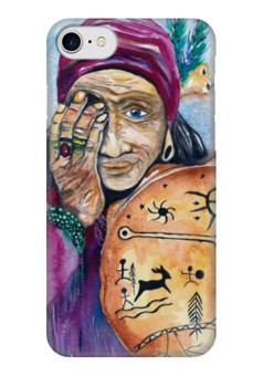 """Чехол для iPhone 7 глянцевый """"Баба Яга"""" - женскийобраз, магия, богиня, творчество, сказки"""