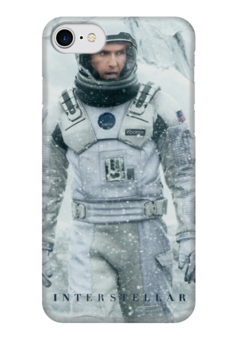 "Чехол для iPhone 7 глянцевый ""Interstellar"" - space, космос, интерстеллар, interstellar, mcconaughey, макконахи"