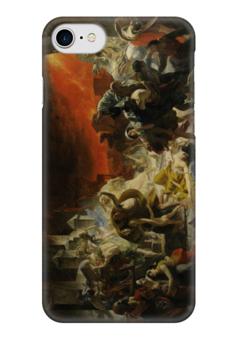 """Чехол для iPhone 7 глянцевый """"Последний день Помпеи (картина Брюллова)"""" - картина, брюллов"""