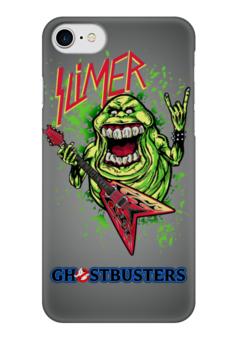 "Чехол для iPhone 7 глянцевый ""Лизун/Slayer"" - юмор, slayer, охотники на привидений, thrash metal, ghost busters"