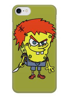 """Чехол для iPhone 7 глянцевый """"Chucky Killer"""" - спанч боб, убийца, чаки, chucky"""