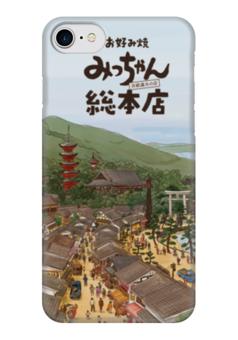 """Чехол для iPhone 7 глянцевый """"Страна восходящего солнца"""" - солнце, страны, город, япония, иероглифы"""