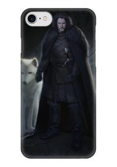 "Чехол для iPhone 7 глянцевый ""Джон Сноу"" - игра престолов, game of thrones, jon snow, джон сноу"