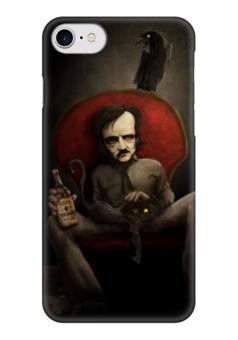 """Чехол для iPhone 7 глянцевый """"Эдгар По"""" - готика, арт, смерть, ужасы, эдгар по"""