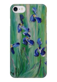 """Чехол для iPhone 7 глянцевый """"Ирисы"""" - весна, красота, iris, цветочки, любимые"""