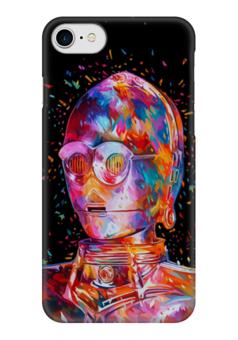 """Чехол для iPhone 7 глянцевый """"C-3PO"""" - star wars, звездные войны, стар варс, ситрипо"""