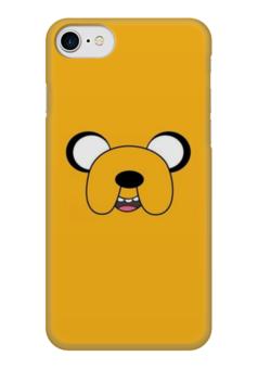 "Чехол для iPhone 7 глянцевый ""Время приключений"" - adventure time, время приключений, джейк"