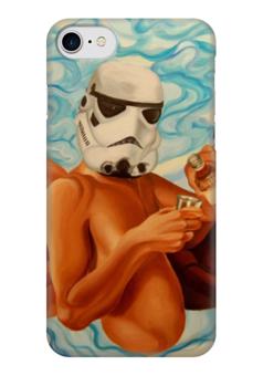 """Чехол для iPhone 7 глянцевый """"Star Wars """" - арт, фантастика, star wars, звёздные войны, бойл"""