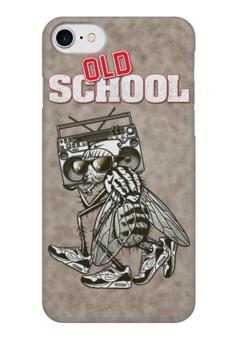 """Чехол для iPhone 7 глянцевый """"Old School Art"""" - old school, муха, старая школа, арт, арт дизайн"""