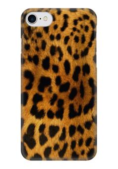 "Чехол для iPhone 7 глянцевый ""Леопард"" - леопард, animals, мех, ягуар"
