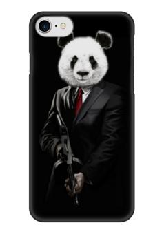 """Чехол для iPhone 7 глянцевый """"PANDA MOB!!!"""" - панда, mafia, мафия, panda, mob"""