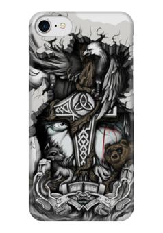 """Чехол для iPhone 7 глянцевый """"Путь воина"""" - викинги, vikings, путь воина"""