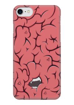 "Чехол для iPhone 7 глянцевый ""Голодный мозг"" - мозг, голод, brain, арт, прикол"