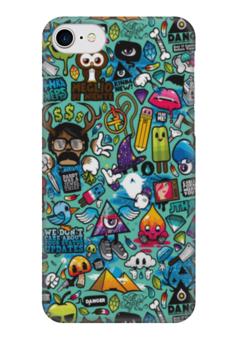"Чехол для iPhone 7 глянцевый ""Хаос во мне"" - череп, надпись, хаос"