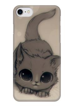 """Чехол для iPhone 7 глянцевый """"Котенок"""" - кот, кошка, котенок, cat"""