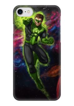 """Чехол для iPhone 7 глянцевый """"Зеленый фонарь (Green Lantern)"""" - комиксы, dc, зеленый фонарь, green lantern, dc comics"""