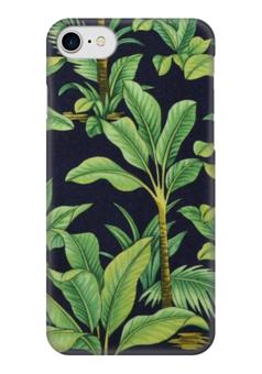"Чехол для iPhone 7 глянцевый ""Пальмовые листья"" - арт, листья, пальмы, фауна, пальмовые листья"