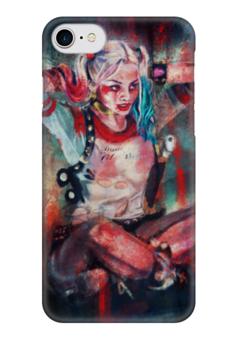 "Чехол для iPhone 7 глянцевый ""Харли Квинн"" - комиксы, джокер, бэтмен, харли квинн, harley quinn"