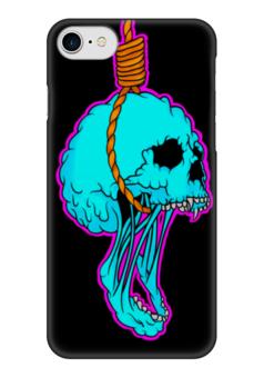 """Чехол для iPhone 7 глянцевый """"Noose Skull"""" - skull, череп, петля, удавка, noose"""