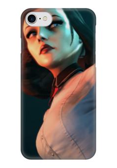 """Чехол для iPhone 7 глянцевый """"Элизабет (Биошок)"""" - big daddy, rapture, little sister"""