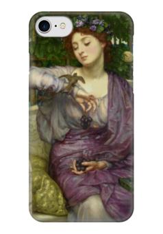 """Чехол для iPhone 7 глянцевый """"Лесбия и её воробушек"""" - картина, пойнтер"""
