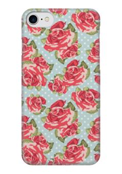 """Чехол для iPhone 7 глянцевый """"Розы (Цветы)"""" - rose"""