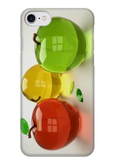"""Чехол для iPhone 7 глянцевый """"стеклянные яблоки"""" - красота, природа, яблоко, стекло"""
