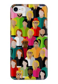 """Чехол для iPhone 7 глянцевый """"PEOPLE"""" - арт, дизайн, графика, стиль, style"""