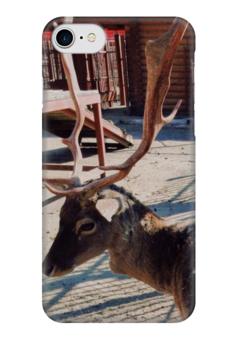 """Чехол для iPhone 7 глянцевый """"Олень"""" - олень, рога, deer, antlers"""