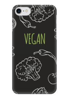 """Чехол для iPhone 7 глянцевый """"Веган"""" - природа, веган, vegan, go vegan, этика"""