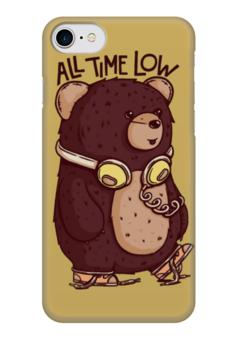 """Чехол для iPhone 7 глянцевый """"Animal Art"""" - животные, bear, медведь, animal, арт дизайн"""
