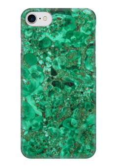 """Чехол для iPhone 7 глянцевый """"Изумруд."""" - зеленый, камень, изумруд, stone, изумрудный"""