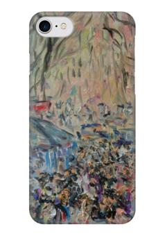 """Чехол для iPhone 7 глянцевый """"Рамбла"""" - улица, прогулка, барселона, испания, рамбла"""