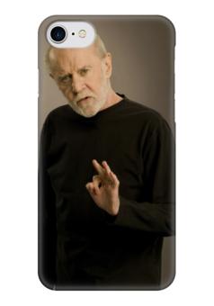 """Чехол для iPhone 7 глянцевый """"Карлин"""" - арт, стиль, америка, комик, джордж карлин"""