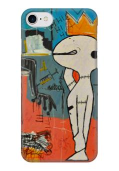 """Чехол для iPhone 7 глянцевый """"Basquiat"""" - граффити, корона, snoopy, basquiat, жан-мишель баския"""