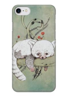 "Чехол для iPhone 7 глянцевый ""red panda"" - панда, panda, red panda"