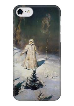 "Чехол для iPhone 7 глянцевый ""Снегурочка (картина Васнецова)"" - картина, васнецов"