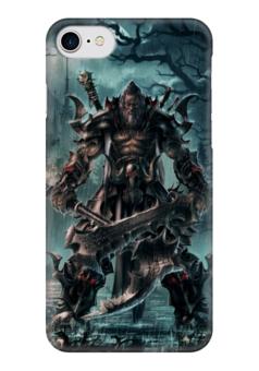 "Чехол для iPhone 7 глянцевый ""Barbarian"" - blizzard, diablo, диабло, близзард, варвар"