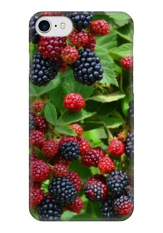 "Чехол для iPhone 7 глянцевый ""Ежевика"" - ежевика, blackberry"