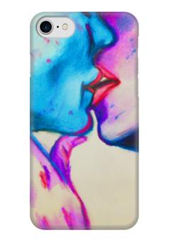 "Чехол для iPhone 7 глянцевый ""Поцелуй"" - поцелуй, любовь, романтика"