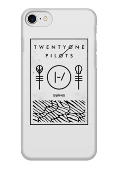 """Чехол для iPhone 7 глянцевый """"Twenty One Pilots"""" - музыка, группы, twenty one pilots, twenty øne piløts"""