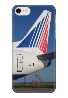 "Чехол для iPhone 7 глянцевый ""Transaero Boeing 737"" - transaero, трансаэро, tso, boeing 737, боинг 737"